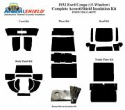 1932 Ford 5 Window Coupe Complete Acoustic Insulation Kit