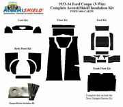 1933 1934 Ford Car 3 Window Coupe Complete Acoustic Insulation Kit