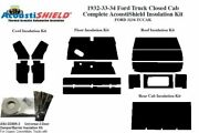 1932 1934andnbsp Ford Truck Closed Cab Complete Acoustic Insulation Kit