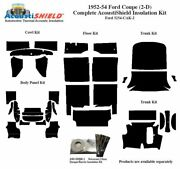 1952 - 1954 Ford Coupe Complete Acoustic Insulation Kit