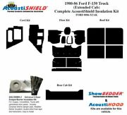 1980 - 1986 Ford F150 Truck Extended Cab Complete Acoustic Insulation Kit