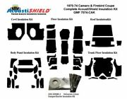1970 - 1974 Camaro And Firebird Coupe Complete Acoustic Insulation Kit