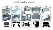 1951 - 1954 Henry J Coupe Complete Acoustic Insulation Kit