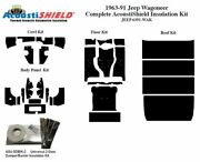 1963 - 1991 Jeep Wagoneer Complete Acoustic Insulation Kit