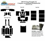 1987 - 1995 Jeep Wrangler Yj Complete Acoustic Insulation Kit