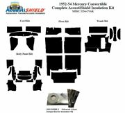 1952 - 1954 Mercury Convertible Complete Acoustic Insulation Kit