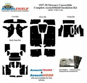 1957 - 1958 Mercury Convertible Complete Acoustic Insulation Kit