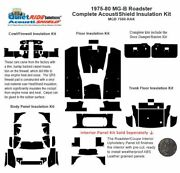 1975 - 1980 Mg B Roadster Complete Acoustic Insulation Kit