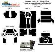 1963 - 1966 Mopar Dodge And Plymouth A Body Sedan Complete Acoustic Insulation Kit