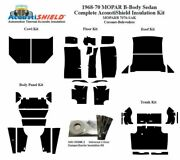 1968 - 1970 Mopar Dodge And Plymouth B Body Sedan Complete Acoustic Insulation Kit