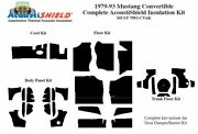 1979 - 1993 Ford Mustang Convertible Complete Acoustic Insulation Kit