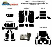 1961 - 1963 Ford Thunderbird Coupe Complete Acoustic Insulation Kit