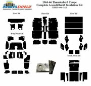 1964 - 1966 Ford Thunderbird Coupe Complete Acoustic Insulation Kit