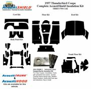 1957 Ford Thunderbird Coupe And Convertible Complete Acoustic Insulation Kit