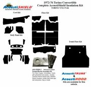 1972 - 1976 Torino Convertible Complete Acoustic Insulation Kit