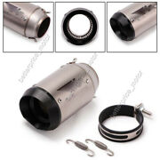 Universal Motorcycle Exhaust System Tail Tube Short Muffler Pipe Stainless Steel