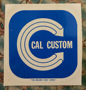 Original Vintage Cal Custom Water Decal Speed Parts Hot Rod Auto Car Truck Vw V8