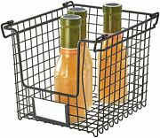 Idesign Classico Storage Basket With Handles For Pantry, Kitchen, Bathroom, Coun