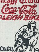 Vintage Nos Machine Stitched Embroidered Patch Coca-cola Chicago 76' Bike Rally