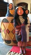 Vintage 1930andrsquos 40andrsquos Skookum Bully Good Native American Indian Dolls