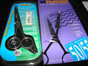 New Old Stock Feather Switch-blade Shears 5.5 55 W/set Of Replacement Blades..