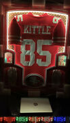 George Kittle Signed Jersey Custom Frame 1of1 Rare 49ers W/ Game Worn Gloves