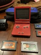 Gameboy Advance Sp With Case , Charger, And Classic Games