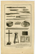 Antique Print-art Utensils-materials-painting-drawing-diderot-prevost-1751