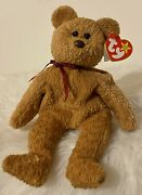 Rare Retired Ty Beanie Baby 'curly' The Bear With Many Errors