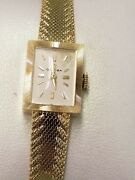 Ladies Authentic Solid 14k Yellow Gold Omega Watch With Original Box Swiss Made