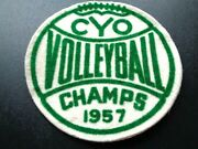 Vintage 1957 Volleyball Champs Jacket Felt Patch Cyo Volleyball 4