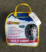 Les Schwab Quick Fit Diamond Tire Chains 1535-s P195/70r14 P185/70r15 And Others