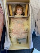 Thelma Resch Porcelain Doll 23 5/8in Top Zustand. Boxed And Certificate