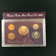 1990-s Proof Set United States Us Mint Original Government Packaging Box And Coa