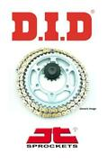 Triumph 955 Tiger 01-04 Did Vx3 Gold X-ring Chain And Jt Rb Sprocket Kit