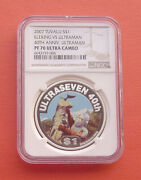 Tuvalu 2007 40th Anniversary Of Ultraman 1 Silver Proof Coin Ngc Pf70uc