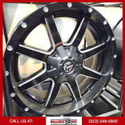 20x9 6x135/6x139.7 Fuel Offroad D538 Maverick Wheel And Tire Package Black Milled