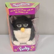 Original Vintage 1998 Furby Skunk Electronic Toy By Tiger Black And White New