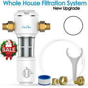 Whole House Sediment Water Filter Spin Down Filtration System Siliphos 40 Micron