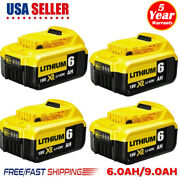 20pack For Dewalt 20v 20 Volt Max Xr 6.0ah Lithium Ion Battery Dcb206-2 Dcb205-2