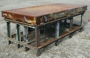 Layout Steel Work Bench Table 4and039 X 8and039 X 36 6 Thick Side On Table Top B215lr