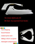 New 2pcs Bn Wide Body Kit +25mm Front Fender Part For Nissan Skyline R32 Gts Frp