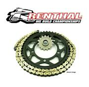 Kawasaki Zx6r 636 13-17 Renthal 520 Rr4 Race Gold X-ring Chain And Jt Sprocket Kit