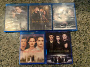 Lot Of 5 Twilight Series Blu Ray New Moon Eclipse Breaking Dawn Part 1 And 2