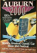 Auburn Cord Duesenberg Festival 100th And 50th Anniversary Signed Posters + More