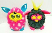 Furby Boom Pink White Polka Dots And Punky Pink And Black Furby.