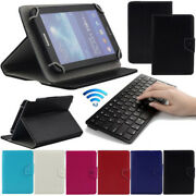 For 9.7-10.1 Android Windows Tablet Bluetooth Keyboard Universal Leather Case