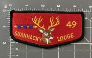 Vintage Bsa Boy Scouts Suanhacky Lodge 49 Oa Patch Order Of The Arrow Queens Nyc