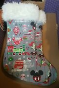 2 Matching Disney Parks Nordic Christmas Stocking Mickey Mouse