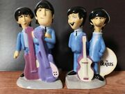 The Beatles Lot Animated Salt And Pepper Shakers And 2 Mugs 2004 Apple Corps. Nib
